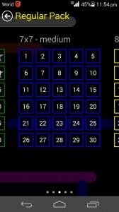 Flow Free Game Review Regular Pack 7x7 Medium Level